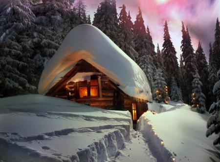 Jak zabezpečit chatu během Vánoc