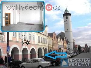 foto Pronájem komerčních obchodních prostor 83 m2 (obchod, služby, kanceláře …. ) v centru Domažlic.